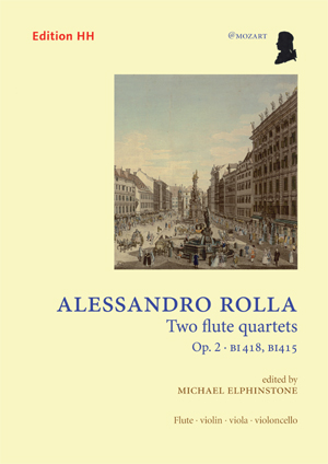Rolla, Alessandro: Two flute quartets, Op. 2
