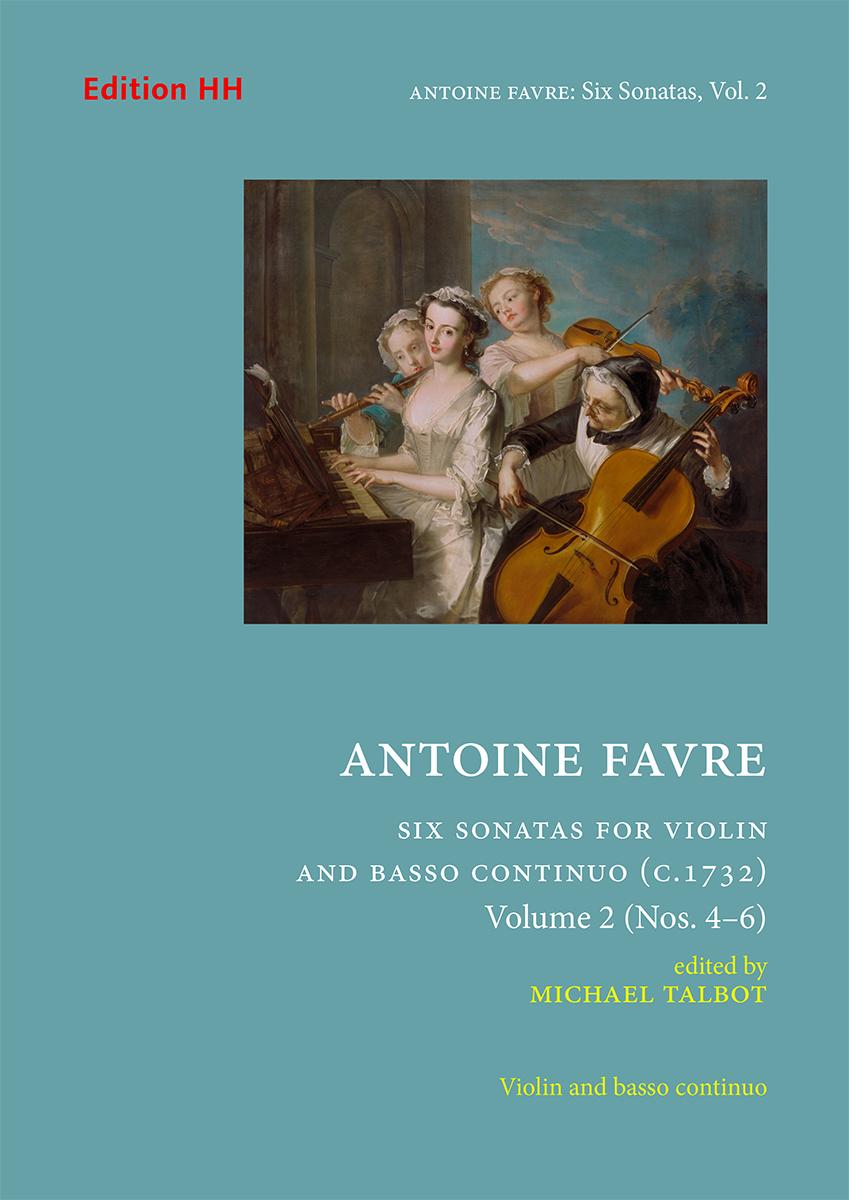 Favre, Antoine: Six sonatas, Volume 2 (Nos. 4–6)