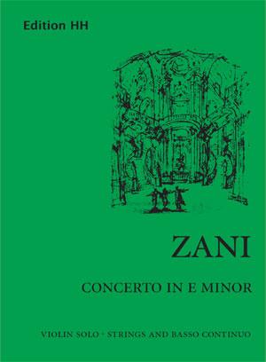 Zani, Andrea: Concerto in E minor