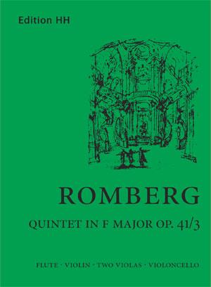 Romberg, A J:Flute quintet in F major (Op. 41/3)