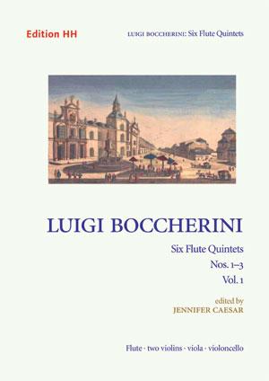Boccherini, Luigi: Six flute quintets, vol. 1