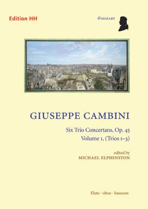 Cambini, Giuseppe: Six trio concertans, vol. 1
