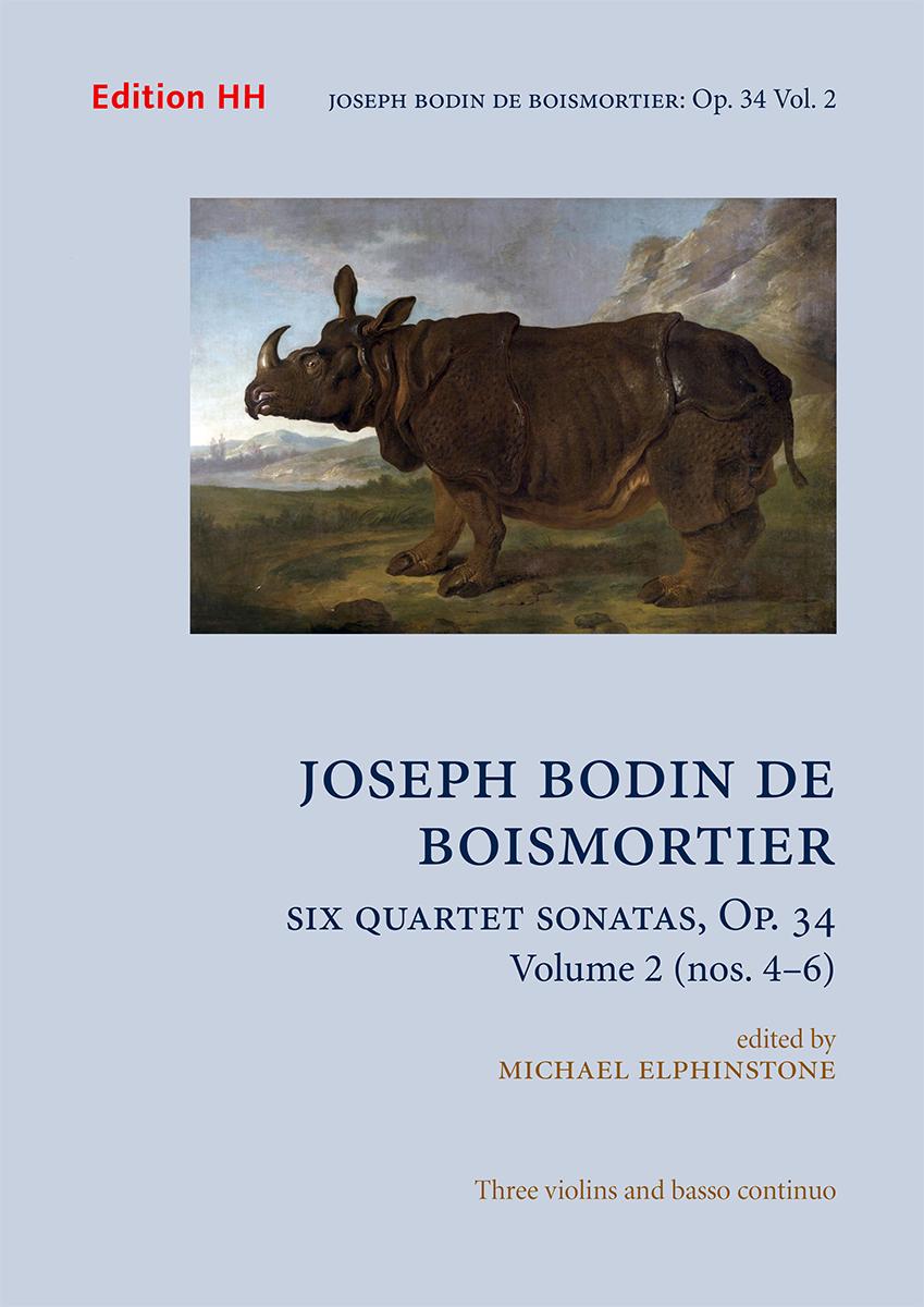 Boismortier, Joseph Bodin de: Six Quartet Sonatas, Op. 34, Vol. 2